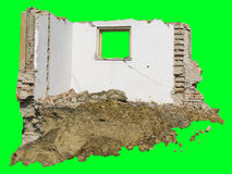 Demolition. Of old and isolated house Royalty Free Stock Images