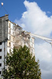 Demolition of an old tower in Les mureaux Stock Photo