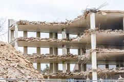 Demolition parking garage in Velbert Stock Image
