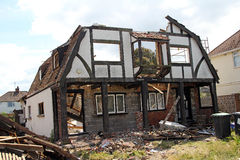 Demolition of peggotty house Stock Image
