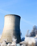 Demolition of a power station Royalty Free Stock Image