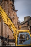 Demolition in progress Stock Photos