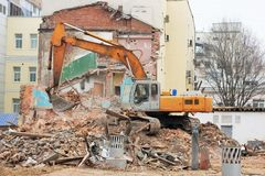 The demolition and reconstruction Royalty Free Stock Image