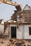 Demolition of a residential building Stock Photos