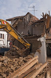 Demolition of a residential building Stock Photography
