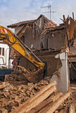 Demolition of a residential building Stock Image