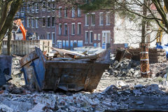 Demolition of a residential district Royalty Free Stock Images