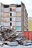 Demolition of a house Stock Photos