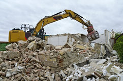 Demolition of a residential house Stock Photography
