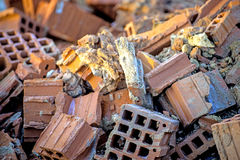 Demolition residues Royalty Free Stock Photography