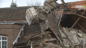 Demolition 01 - Roof removal stock video footage