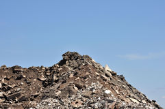 Demolition Rubble. Rubble from a demolished building Royalty Free Stock Images