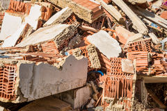 Demolition rubble. Full frame take of demolition rubble Royalty Free Stock Image