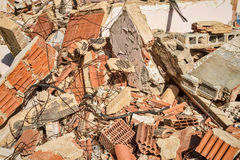 Demolition rubble. Full frame take of demolition rubble Royalty Free Stock Photography