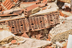Demolition rubble. Full frame take of demolition rubble Stock Photos