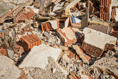 Demolition rubble. Full frame take of demolition rubble Stock Image