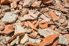Demolition rubble. Full frame take of demolition rubble Royalty Free Stock Photos