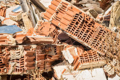 Demolition rubble. Full frame take of demolition rubble Royalty Free Stock Photo