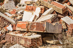 Demolition rubble. Full frame take of demolition rubble Stock Photography
