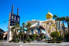Demolition of the Sahara Hotel & Casino. Royalty Free Stock Photos