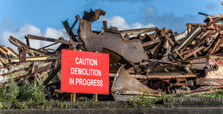 Demolition Sign Royalty Free Stock Images