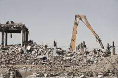 Demolition Site Stock Photo
