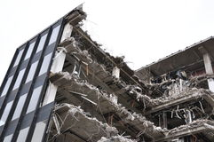 Demolition site. Deconstruction site of an office building Royalty Free Stock Photography