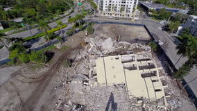 Demolition site aerial drone video Royalty Free Stock Photography
