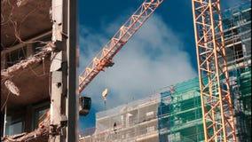Demolition site stock video footage