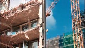 Demolition site stock footage
