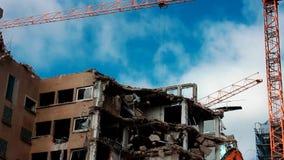 Demolition site stock video