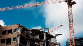 Demolition site stock footage