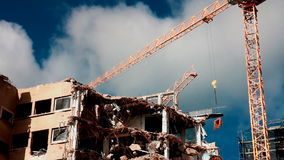 Demolition site stock video footage