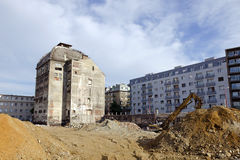 The demolition of Stein brewery in Bratislava Stock Image