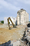 The demolition of Stein brewery in Bratislava Royalty Free Stock Images