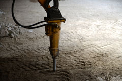 Demolition Tool. Construction and demolition work outdoor royalty free stock photo
