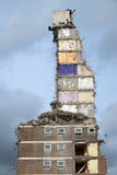 Demolition of Tower Block Stock Image