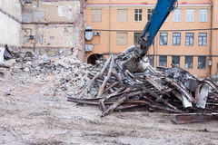 Demolition truck in action Royalty Free Stock Image