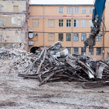 Demolition truck in action Royalty Free Stock Photography
