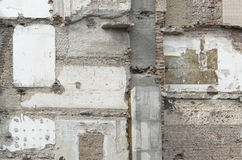 Demolition wall. Full frame demolition wall detail Royalty Free Stock Photography
