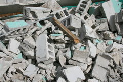 Demolition work. A picture of a building being demolished Stock Photography