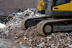 Demolition work Royalty Free Stock Photos