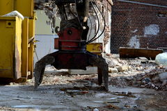 Demolition work stock photography