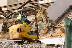Demolition work in Lisbon Royalty Free Stock Images