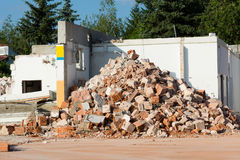 Demolition work Royalty Free Stock Photo