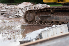Demolition works Royalty Free Stock Photography