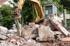 Demolition works Royalty Free Stock Photos