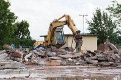 Demolition works Royalty Free Stock Photo