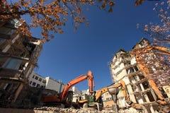 Demoliton och rekonstruktion Arkivbilder