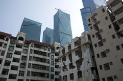 Demolizione in città cinese Immagine Stock